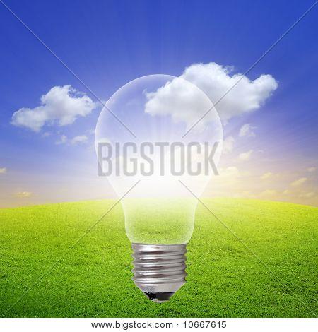 Sunrise Inside Light Bulb