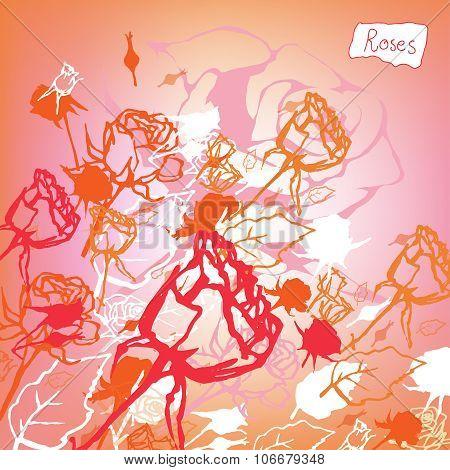 Roses Background illustration