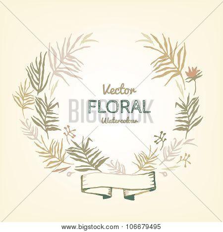 Floral Garland illustration