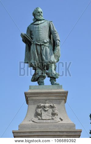 Captain John Smith Statue in Jamestown, Virginia poster
