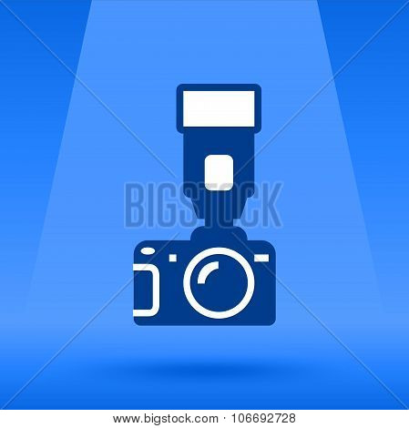 Photo Camera and flash vector illustration