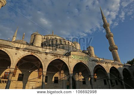 Blue Mosque in Golden Light
