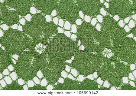 The Macro Shot Of The Green Flowers Lace Texture Materia