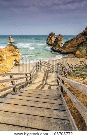 Beach of Doña Ana at Lagos, Algarve, Portugal