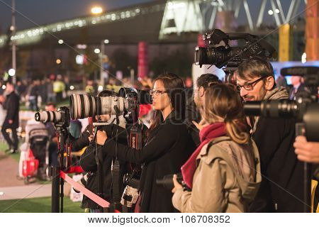 Photographers Working At Expo 2015 In Milan, Italy