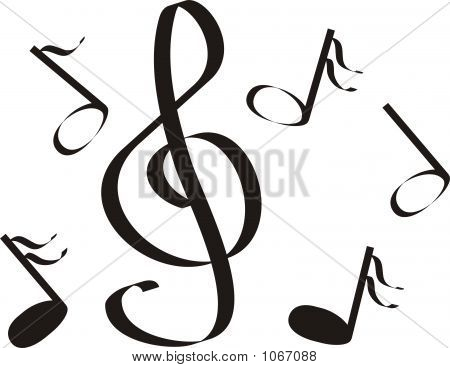 Musical Notes A Treble