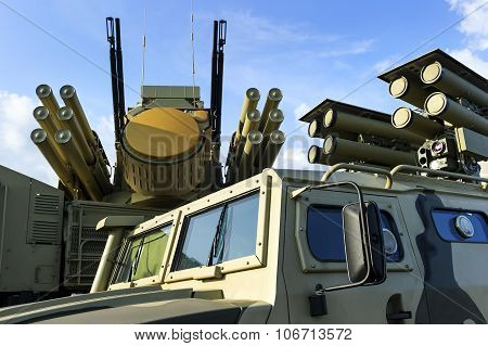 Military vehicles with missiles