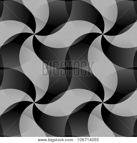 Abstract geometric black white tileable pattern
