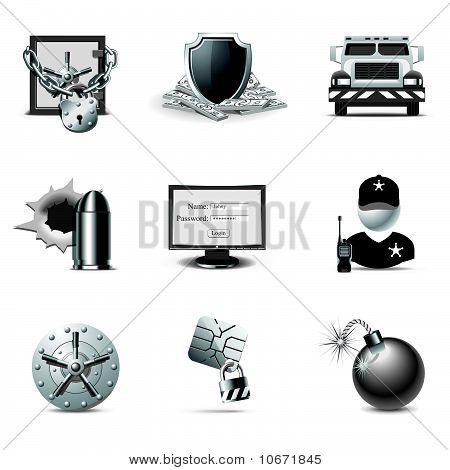 Bank Security Icons | B&W Series