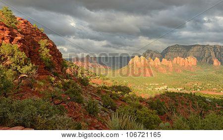 View From Airport Vortex In Sedona, Arizona