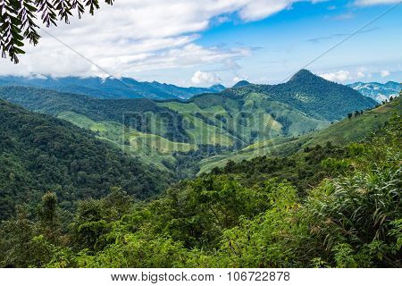 Landscape Of Mountain View Forest In Thailand