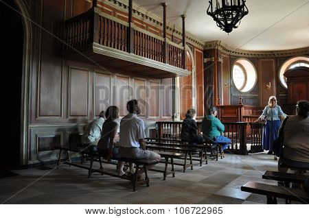 The Capitol in Colonial Williamsburg in Virginia
