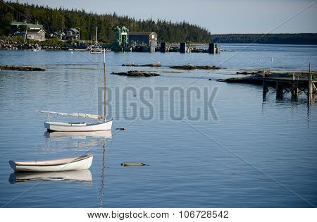 Scenic Fishing Village In Maine Near Acadia National Park