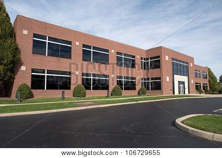 Contemporary Red Brick Building
