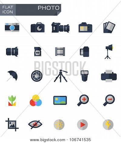 Vector Flat Photo Icons Set