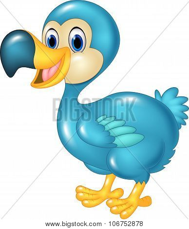 Cute animal dodo bird isolated on transparent background
