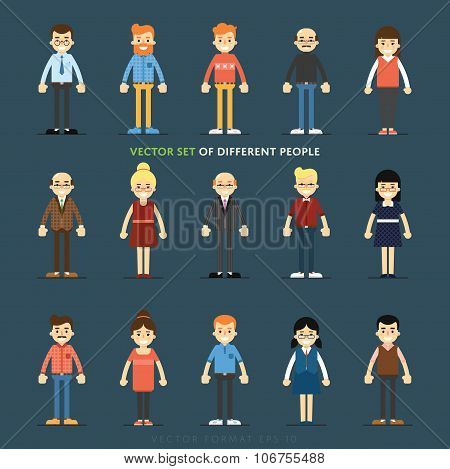 Business people profile. People characters set. Young people. Vector people. Diverse group of people. People isolated. Smiling business people. Group of people. Casual style people. Full length portraits business people.