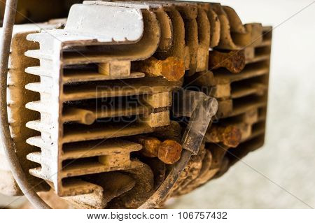 Closeup Old Engine