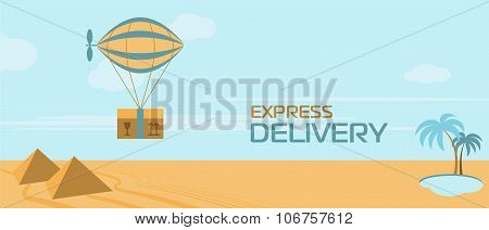 Express delivery vector illustration. Express delivery situation. Express delivery package. Delivery banner. Post service, order. Symbol of express delivery. Shipping. Delivery goods, shipping service. Express delivery sign. Express delivery service.