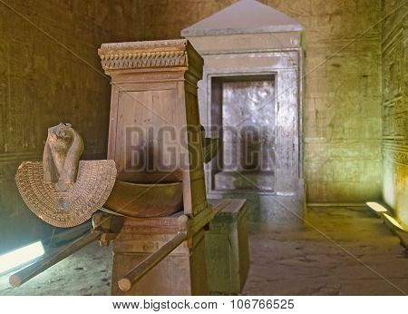 The Sanctuary Of Edfu Temple