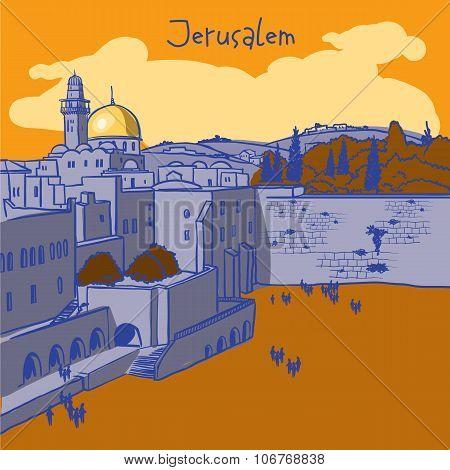 Jerusalem, Israel Old City Skyline