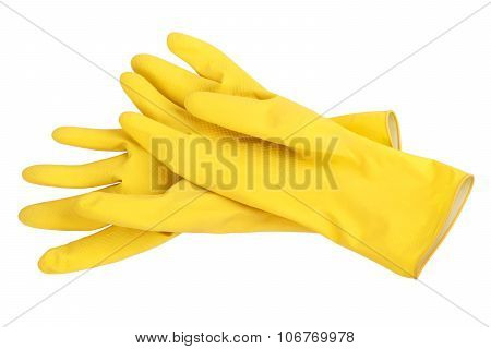 Yellow Cleaning Gloves