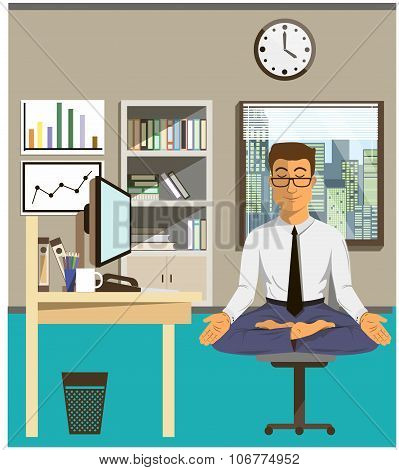 Illustration Of The Concept Of Relax And Work Balance.