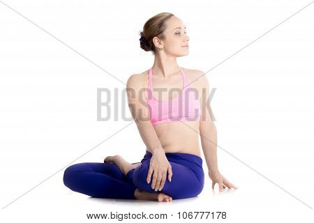 Revolved Half Lotus Posture