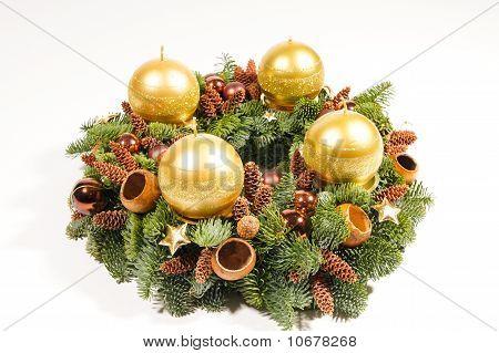 Gold advent wreath