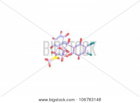 Sertraline is an antidepressant of the selective serotonin reuptake inhibitor. 3d illustration
