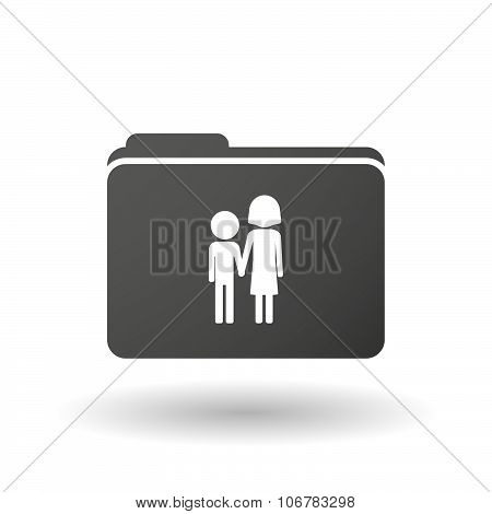 Illustration of an isolated binder with a childhood pictogram poster