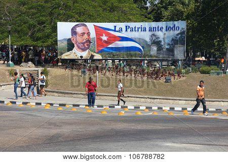 Cuba Political Sign