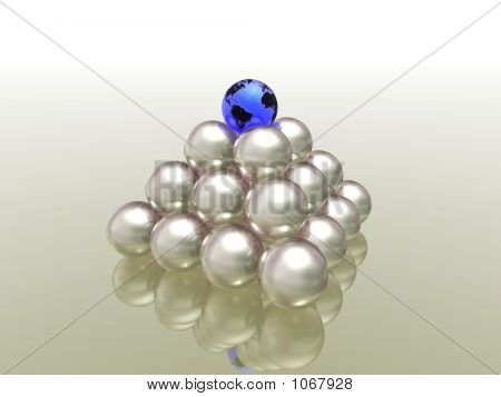 globe on pearls (see more in my portfolio) poster