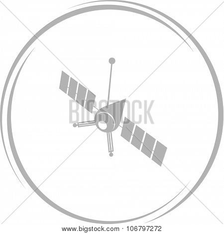 spaceship. Internet button. Vector icon.