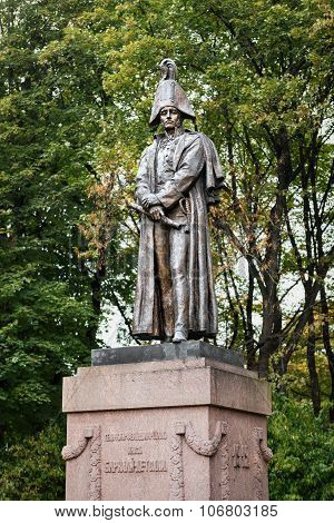 Bronze Statue Of Field Marshal Barclay De Tolly In Riga, Latvia