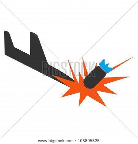 Aircraft Bomb Explosion Icon