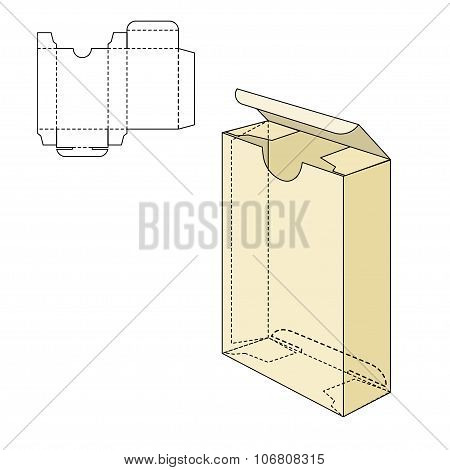 Box Die Line Tamplate
