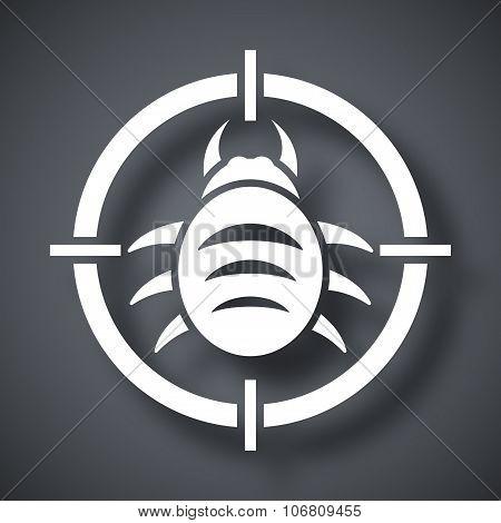 Vector Bug Target Icon