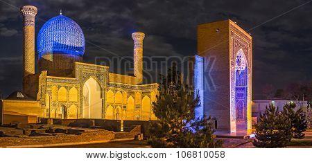 Panorama Of The Evening Samarkand
