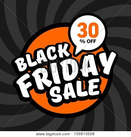 Black friday sale of 30 percent. Vector background.