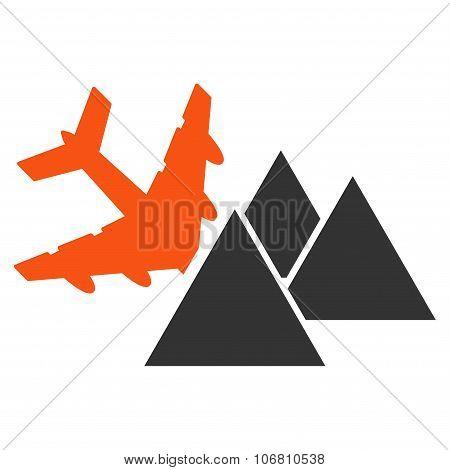 Piramides Airplane Crash Icon
