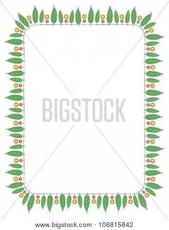 Indian festive decorative border. Vector illustration.