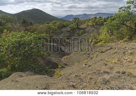 Gullies In The Crimean Mountains.