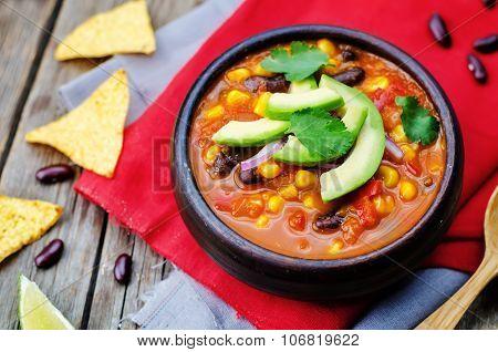 Chipotle Red Bean Tortilla Soup