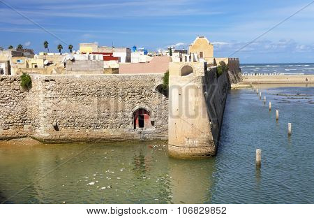 Architectural detail of Mazagan, El Jadida, Morocco - a Portuguese Fortified Port City registered as a UNESCO World Heritage Site