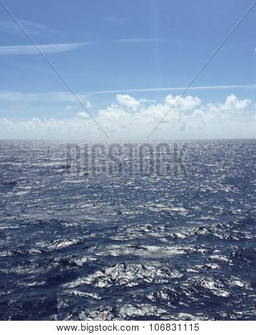 Blue skies and seas