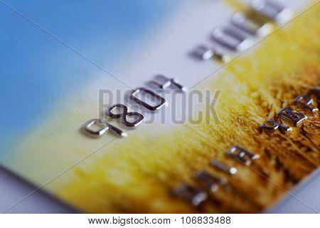 Credit card, close up