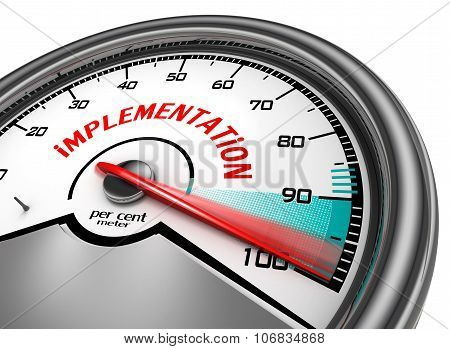 Implementation To Hundred Per Cent Conceptual Meter