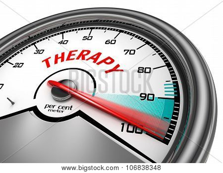 Successful Therapy Conceptual Meter With Red Word Therapy