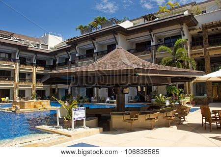 Swimming Pool And Bar At Boracay Regency Resort